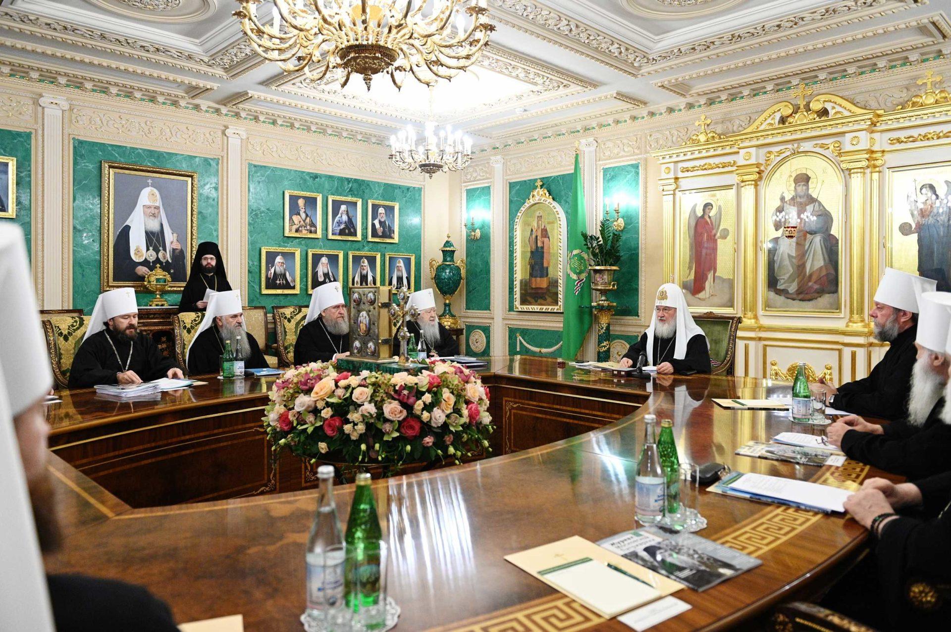 Заседание Священного Синода Русской Православной Церкви от 29 октября 2019 http://www.patriarchia.ru